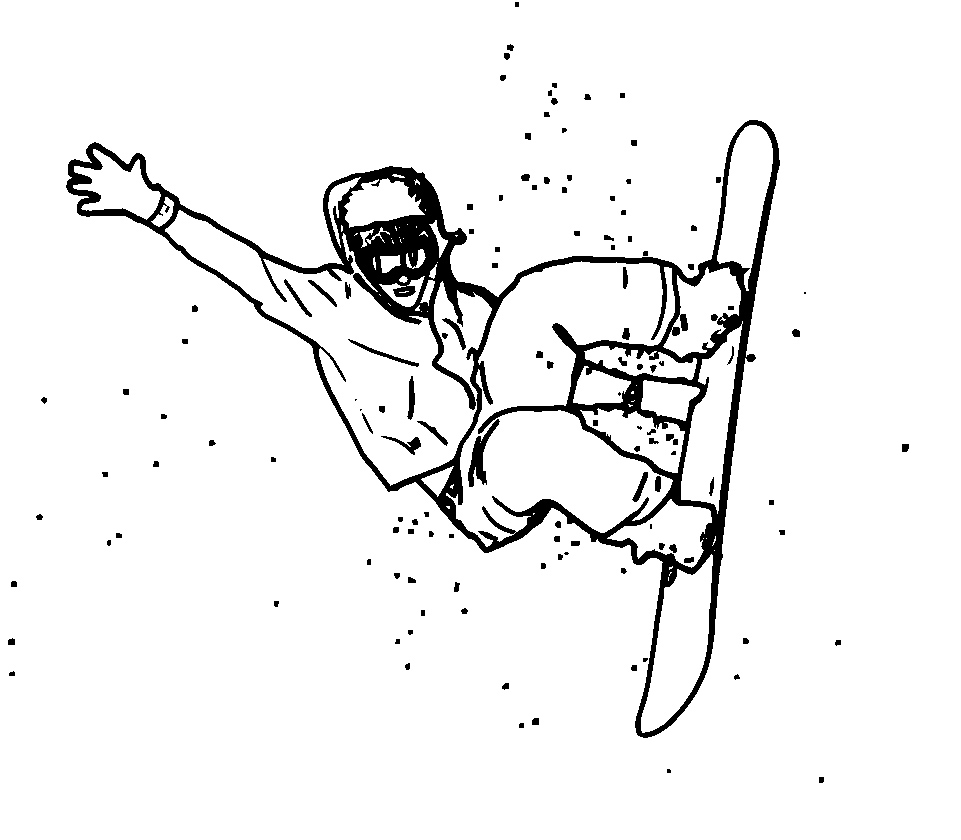 961x840 Best Sports Coloring Pages Snowboarding Coloring Pages