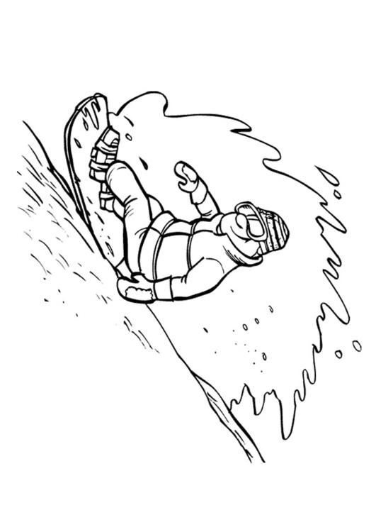 531x750 Coloring Page Snowboarding