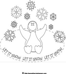 269x300 Winter Coloring Pages, Let It Snow Penguin In Snowy Winter Weather