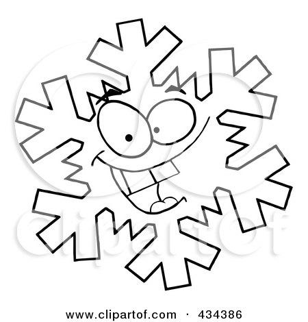 450x470 Clipart Of A Happy Snowflake Mascot