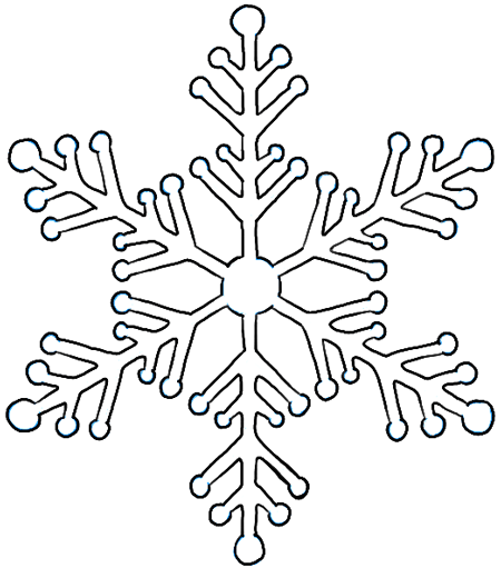 450x511 How To Draw Snowflake With Easy Drawing Lesson