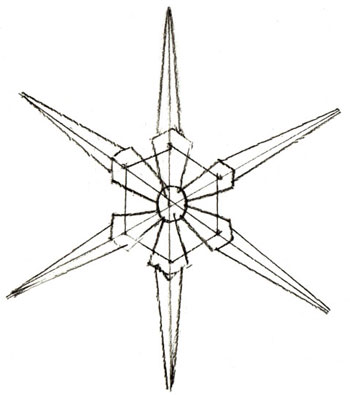 350x397 How To Draw A Snowflake