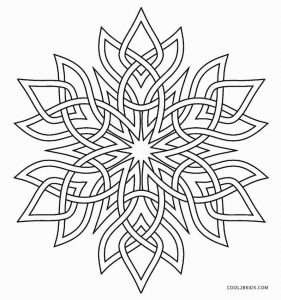 281x300 Printable Snowflake Coloring Pages For Kids Cool2bkids