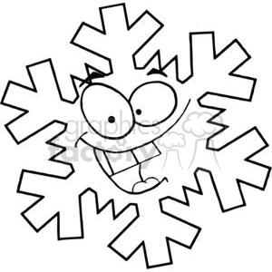 300x300 Royalty Free Cartoon Snowflake 381334 Vector Clip Art Image
