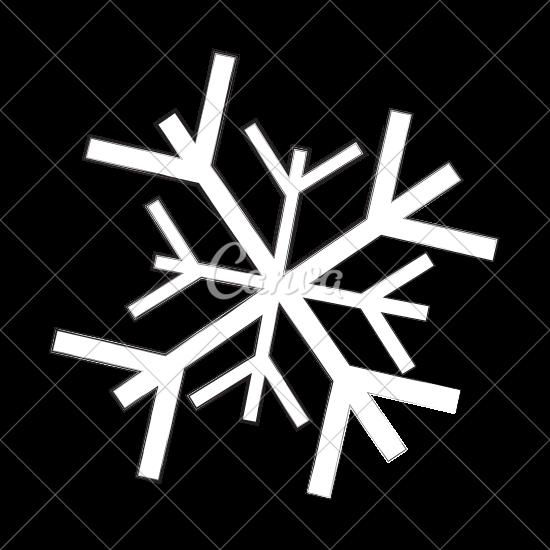 550x550 Snowflake Cartoon Vector Illustration