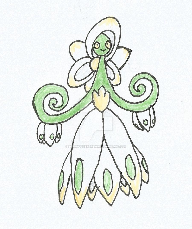 900x1075 Snowflake Flower Fakemon By Pokesyouintheface