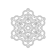 230x230 Top 20 Snowflake Coloring Pages For Your Little Ones
