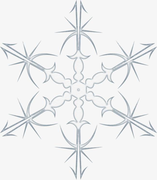 650x742 Cartoon Blue Hand Painted Decorative Snowflake, Christmas