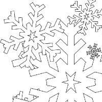 200x200 Drawing Snowflake