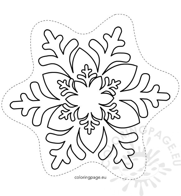 581x627 Free Printable Snowflake Template Coloring Page