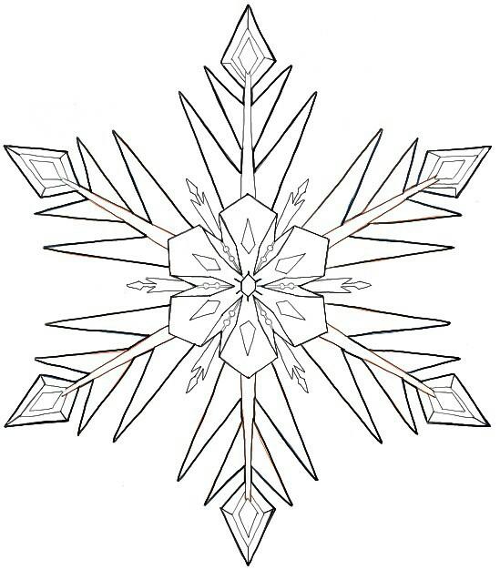 549x626 Frozen Snowflake Drawing Tips Frozen Snowflake