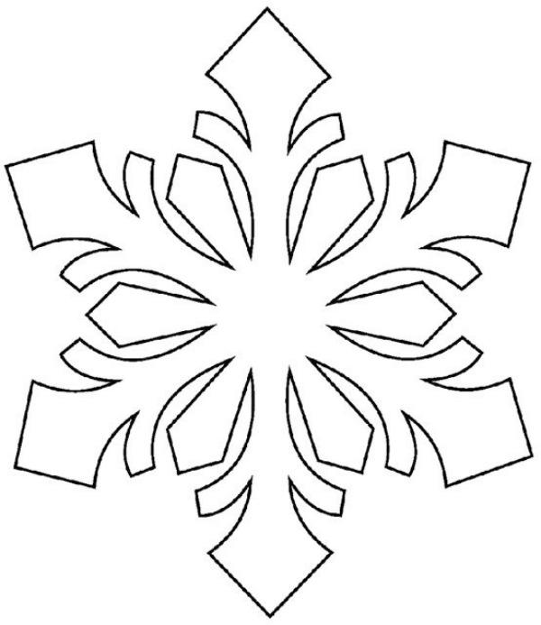 600x693 Printable Snowflake Templates To Get You Through Any Snow Day Let