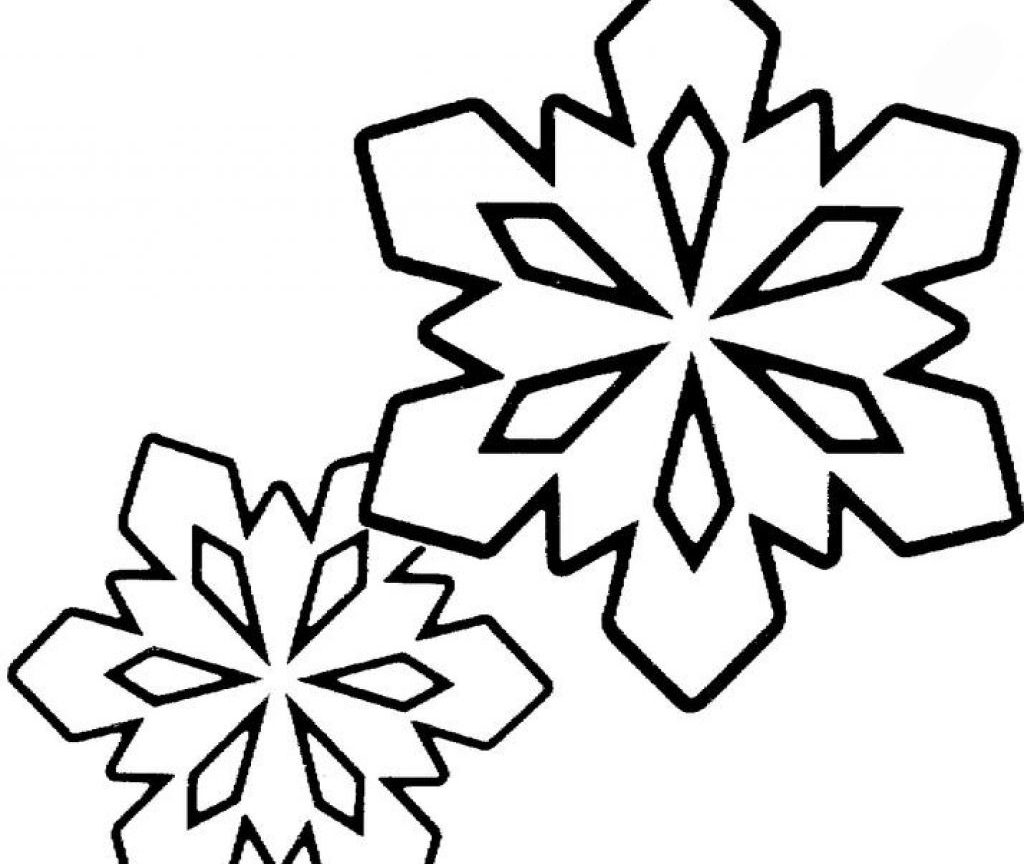 1024x864 The Stylish Coloring Pages Of Snowflakes Intended To Print Unique