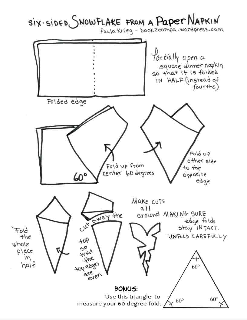 816x1056 Tis The Season To Make Paper Snowflakes Playful Bookbinding
