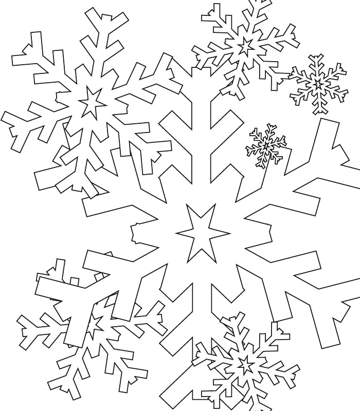 700x800 Coloring Snowflake