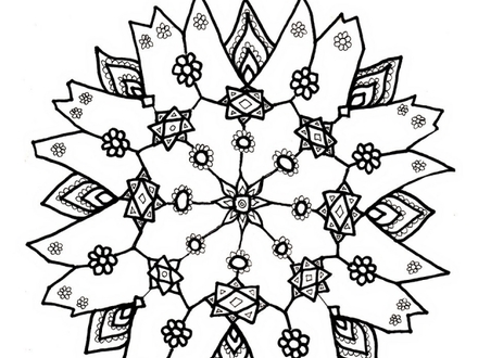 Snowflake Drawing For Kids