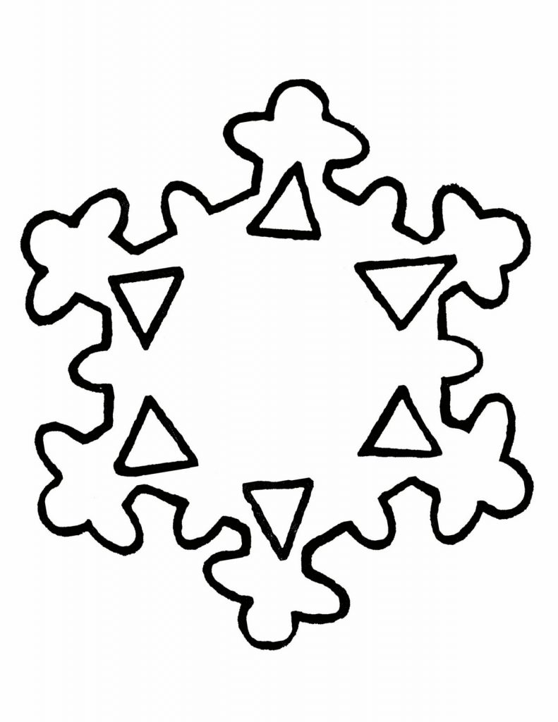 791x1024 Free Printable Snowflake Coloring Pages For Kids Unique Adult