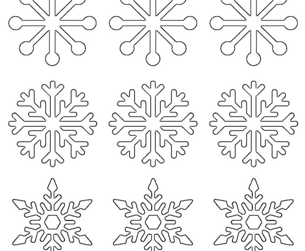 970x800 Impressive Snowflake Color Pages Printable Coloring For Kids