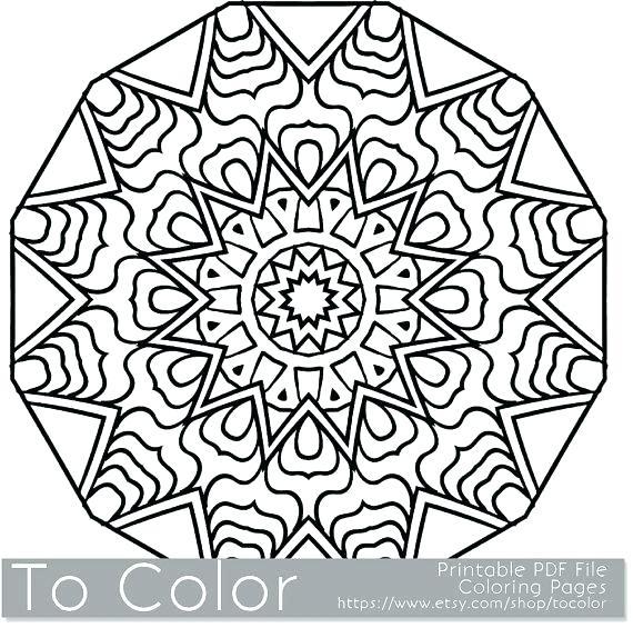 570x565 Minimalist Mandala Free Coloring Pages Kids Snowflakes Book