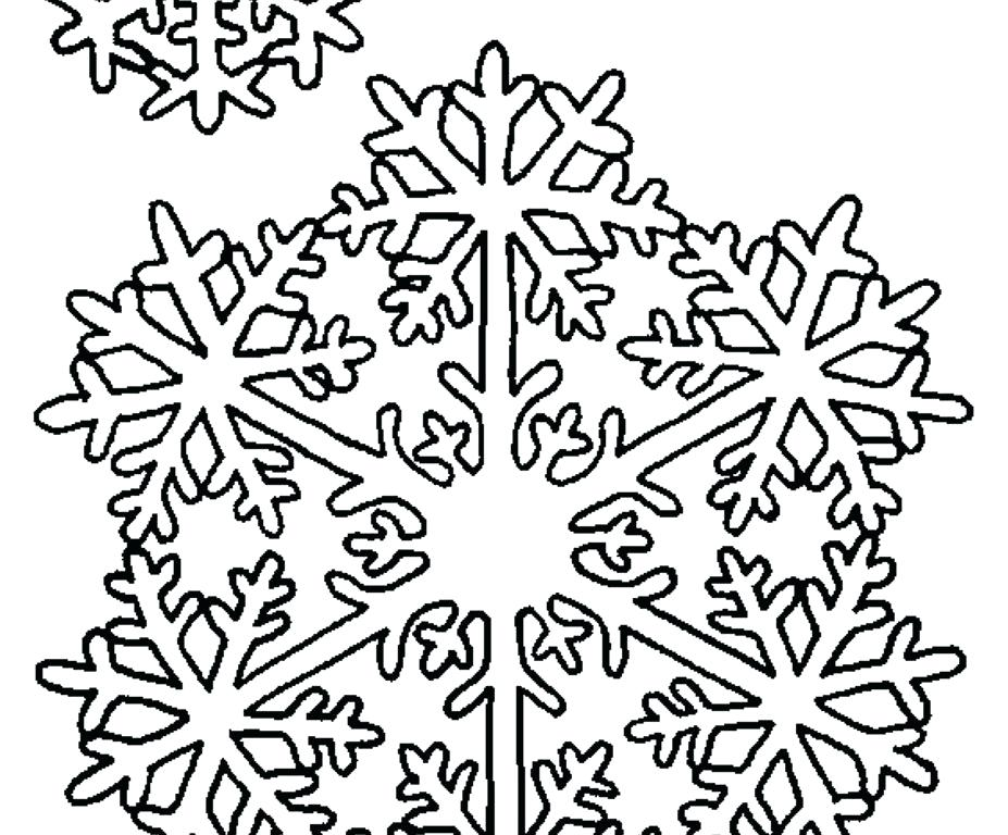 927x768 Printable Snowflake Coloring Pages Snowflake Coloring Pages