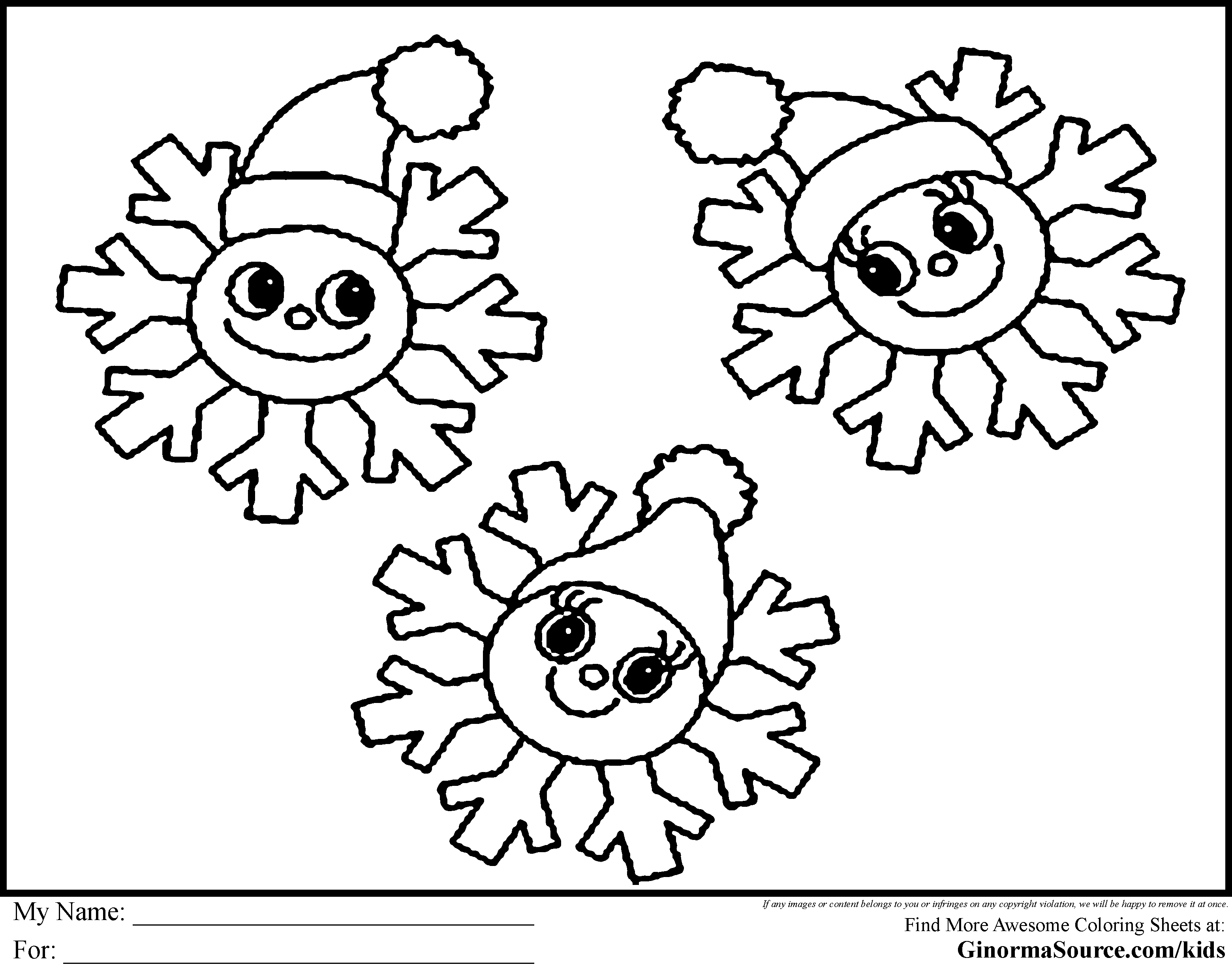 3120x2455 Printable Snowman Faces Snowflake Coloring Pages