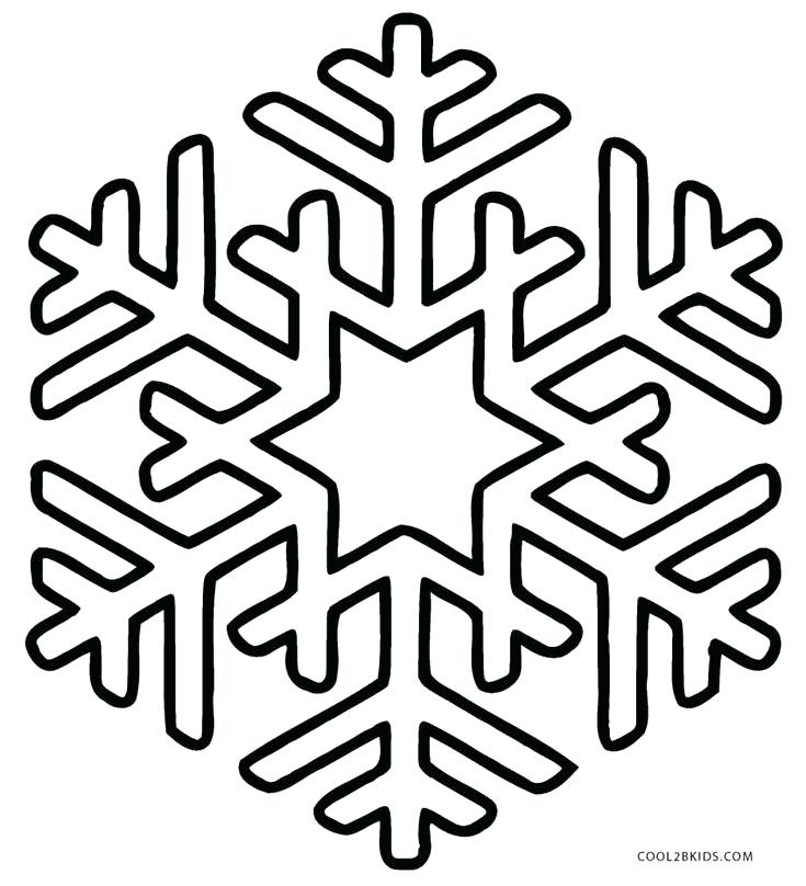 735x808 Snowflake Color Pages Printable Snowflake Coloring Pages For Kids
