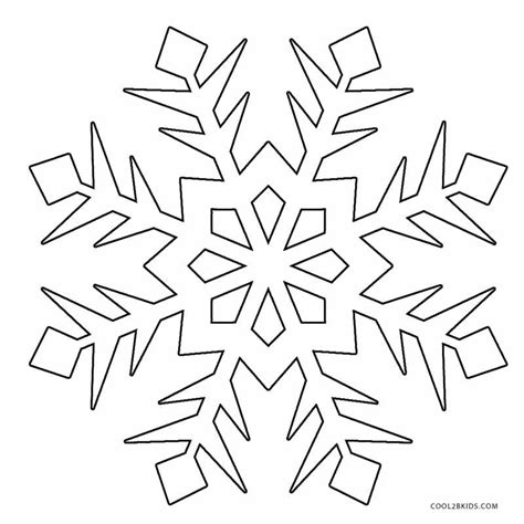 474x474 Snowflake Coloring Pages
