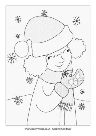 320x452 Snowflake Colouring Pages