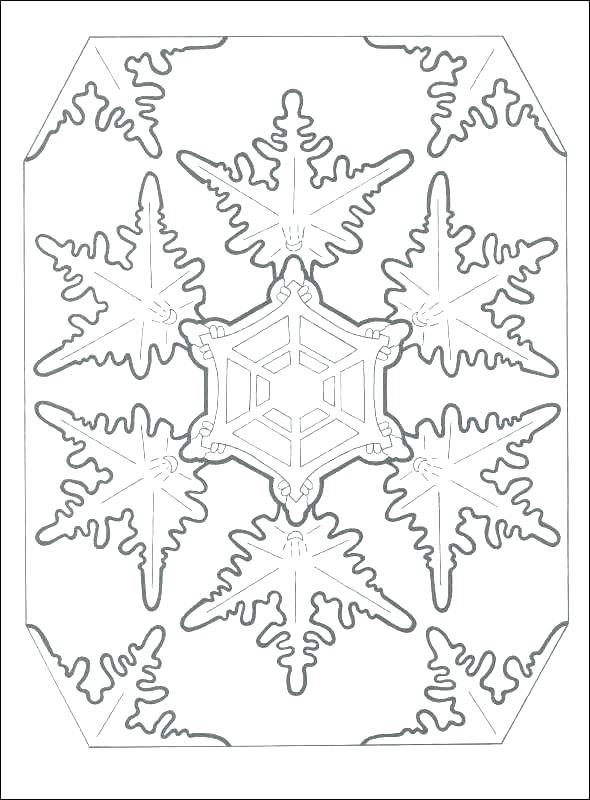 590x800 Snowflakes For Coloring Coloring Pages Of Snowflakes Drawing