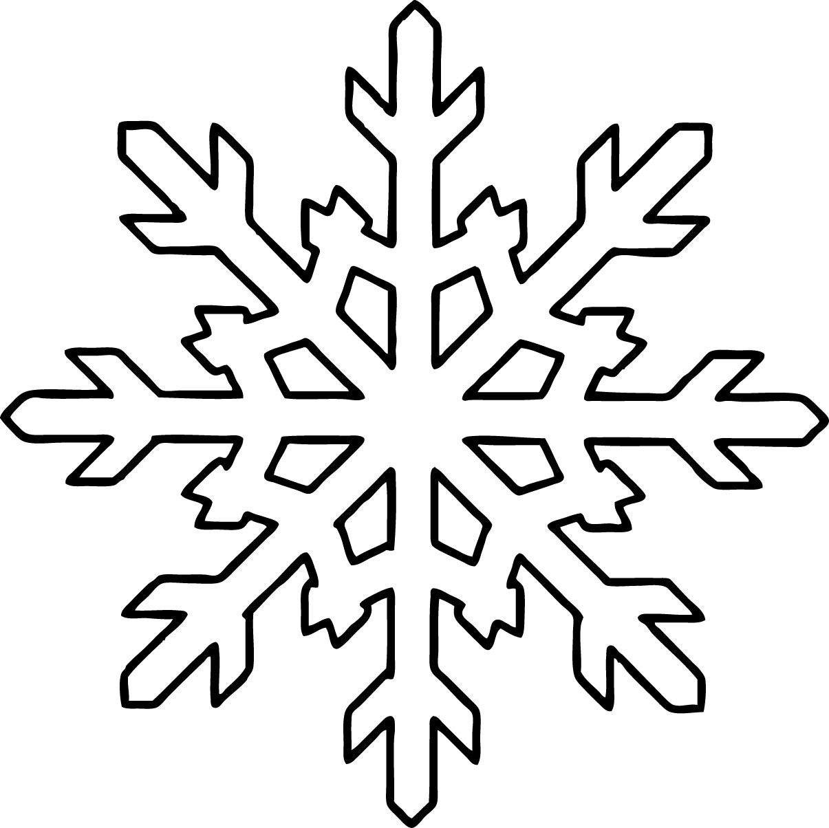 1205x1204 Winter Snowflake Coloring Pages For Kids