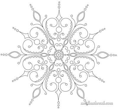 400x371 Embroidery Patterns Snowflakes And Snowflake Embroidery