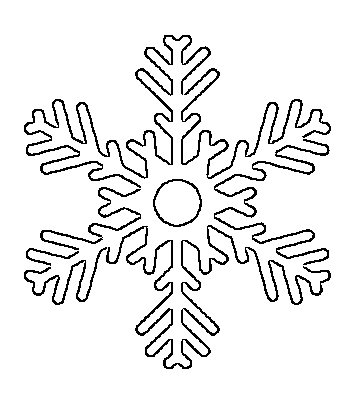 360x395 Free Printable Snowflake Templates Large Amp Small Stencil