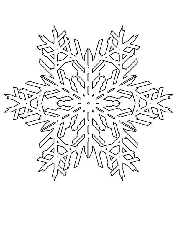 600x776 Lovely Snowflakes Pattern Coloring Page