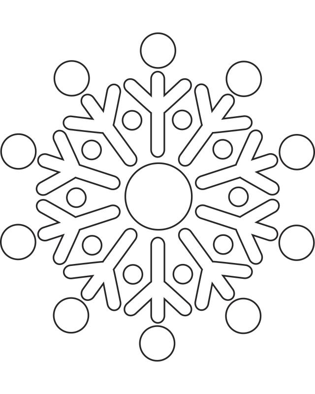 640x800 Snowflake Patterns For Kids