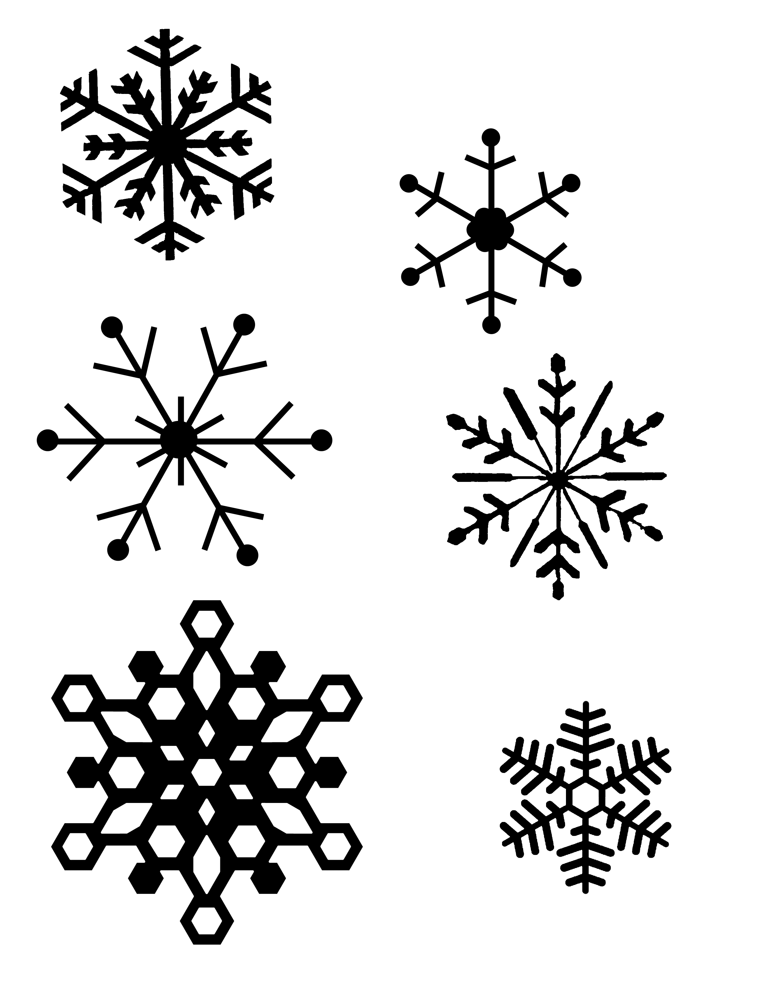 2550x3300 Snowflakes Drawing Realistic Simple Snowflake Drawing Simple