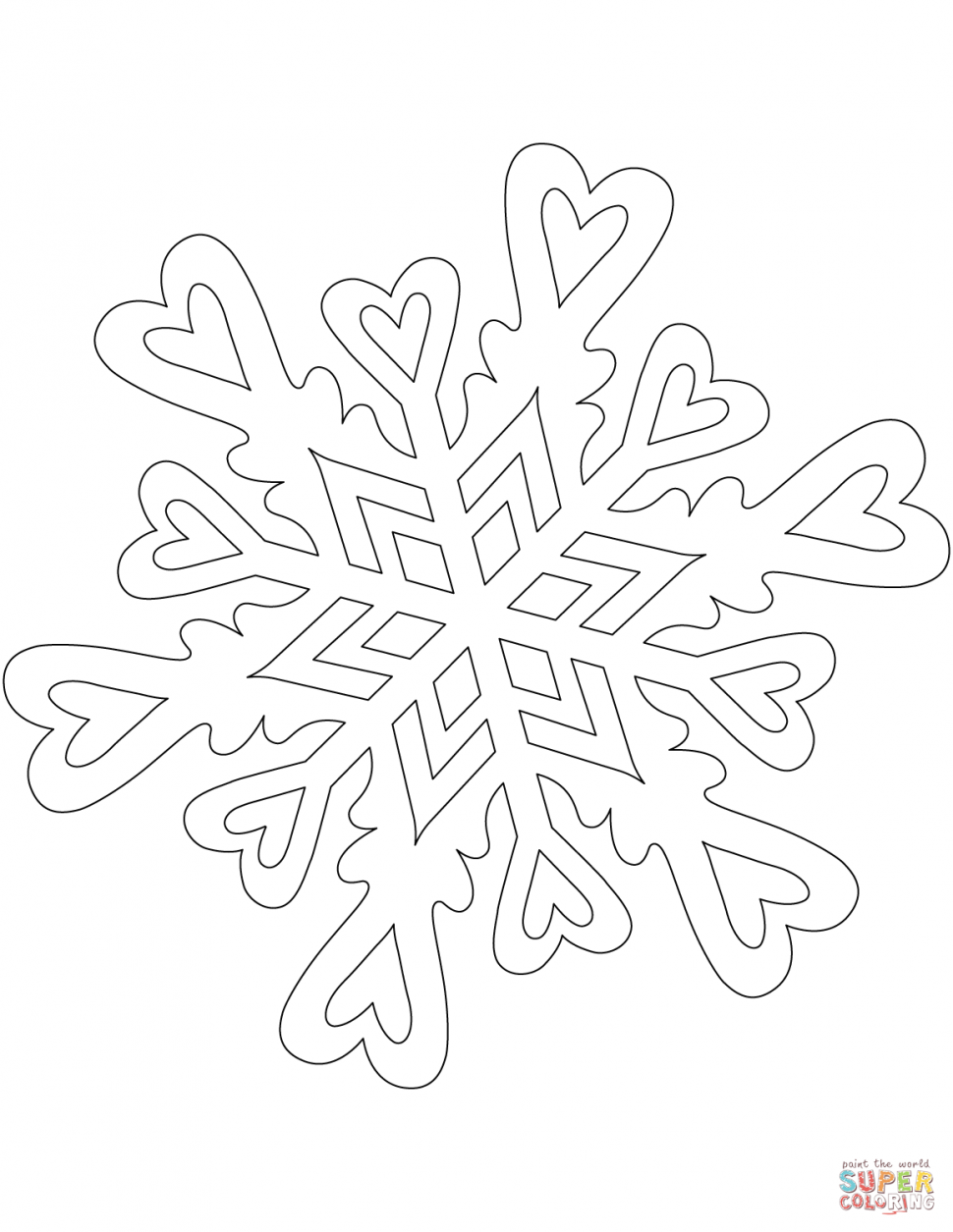 970x1255 Coloring Coloringok Snowflake Photo Inspirations Pattern