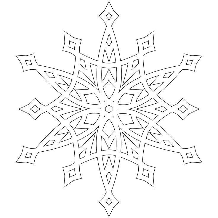 Snowflake Drawing Patterns at GetDrawings.com | Free for personal ...
