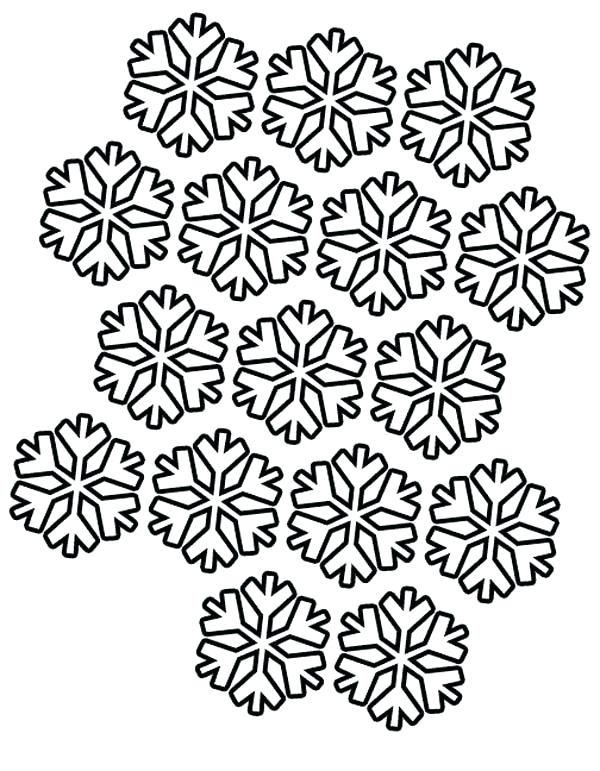 600x771 Coloring Pages Of Snowflakes Snowflakes Pattern Coloring Page