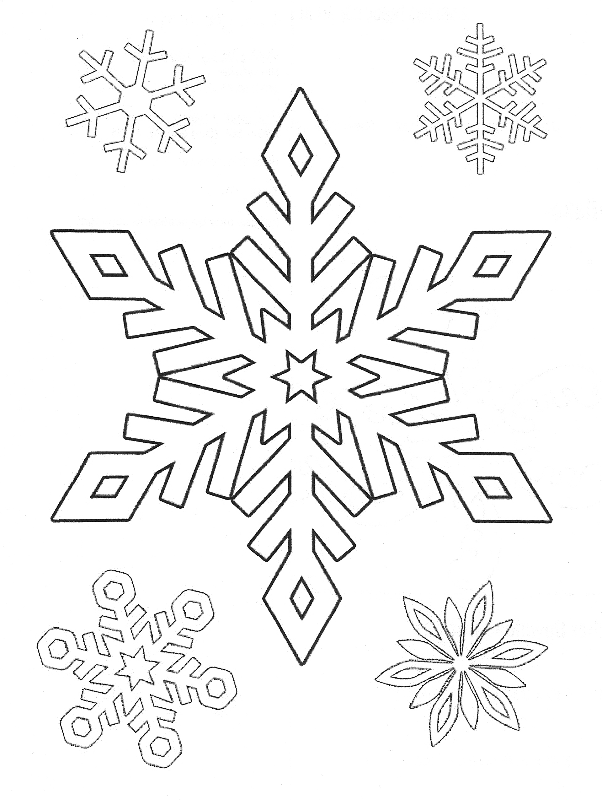 Snowflake Drawing Simple