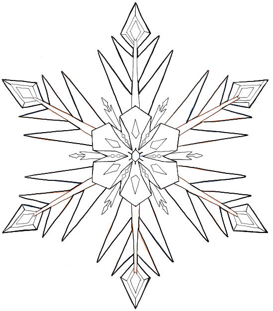 549x626 How Draw Snowflakes From Disney Frozen Movie With Easy
