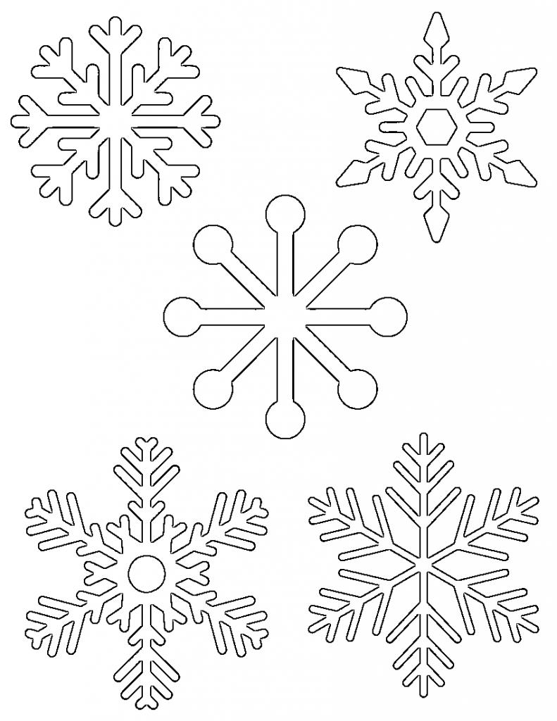 791x1024 Simple Drawing Of A Snowflake Free Printable Snowflake Templates
