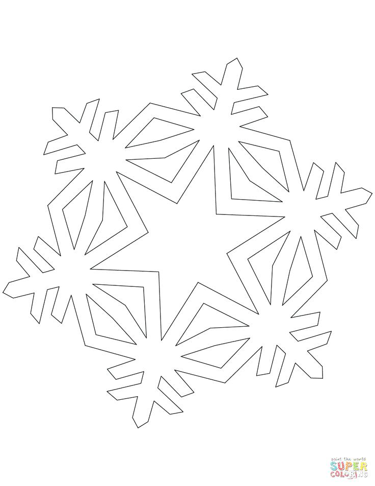 736x952 Snow Flake Coloring Page Simple Crystal Snowflake Coloring Page