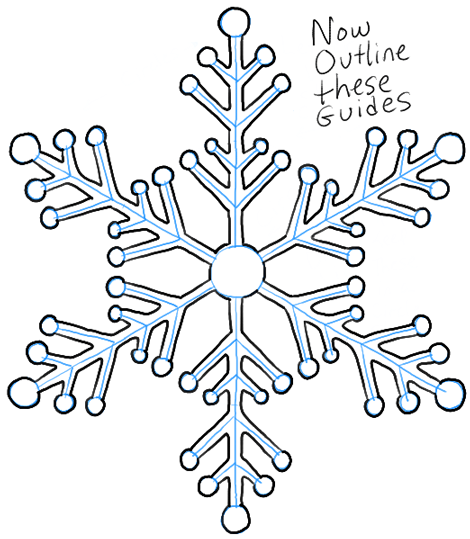 470x539 Step05 Snowflakes 3 Quick Art Easy Drawings