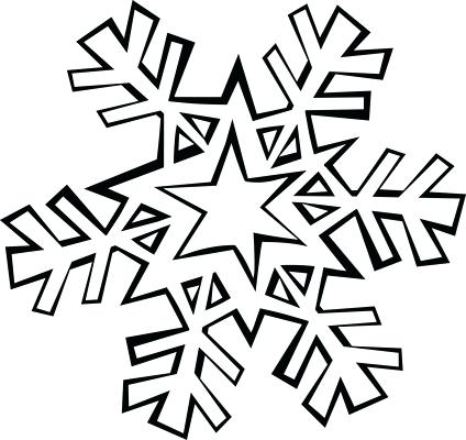 424x400 Coloring Page Snowflake Simple Snowflake Coloring Pages Frozen