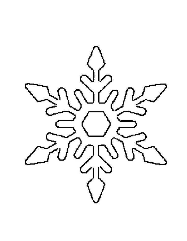 Snowflake Drawing Template At GetdrawingsCom  Free For Personal