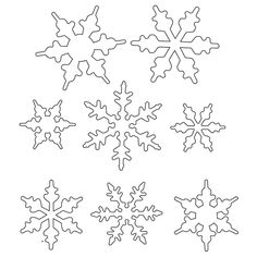 236x236 Frozen Snowflake Template.pdf Crafting Snowflake