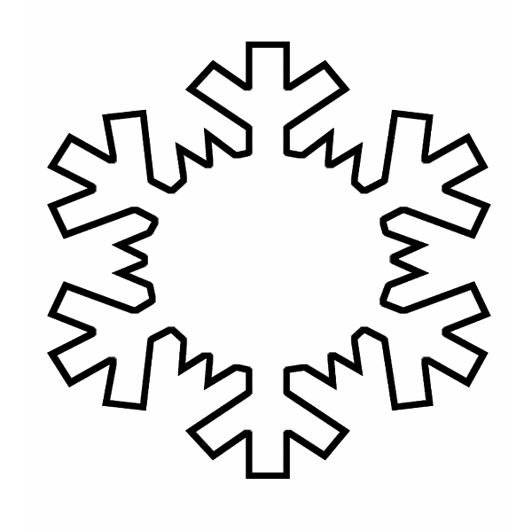 Snowflake Drawing Template at GetDrawings | Free download