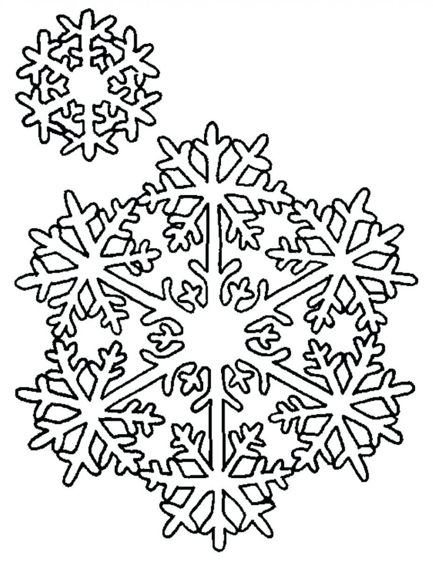 It is a picture of Printable Snowflake Stencils for free printable