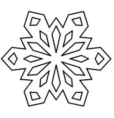 snowflake drawing template at getdrawings com free for personal