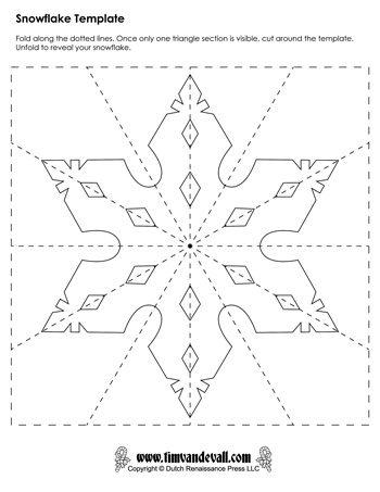 350x453 Snowflake Template